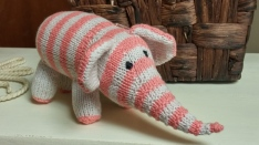 Striped Knitted Elephant